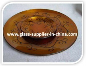 Art glass plate