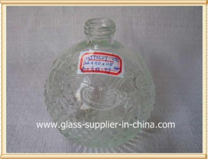 Bath suit glass bottle