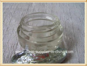 Cosmetic glass jar