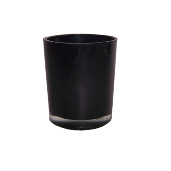 Jar Black Glass 108
